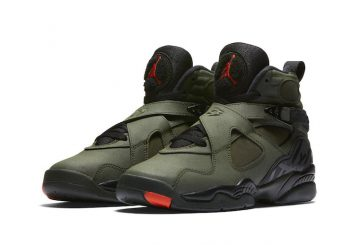 1月28日発売★NIKE Air Jordan 8 Sequoia/Black-Wolf Grey-Max Orange 305381-305 【ナイキ エアジョーダン 8 】