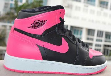 "レディース★2月11日発売★NIKE Air Jordan 1 GS ""Serena Williams"" Black/Black-Hyper Pink-White 881426-009 【ナイキ エアジョーダン1 GS】"