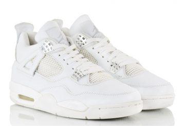 "MOVIE★5月13日発売★ NIKE Air Jordan 4 Retro ""Pure Money"" White/Metallic Silver-Pure Platinum 308497-100 【ナイキ エアジョーダン 4 】"
