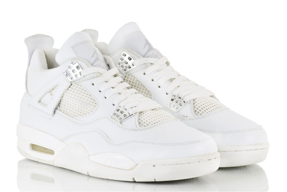 Nike Air Jordan 4 Retro Pure Money White Metallic Silver