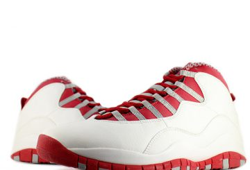 過去の名作★NIKE AIR JORDAN 10 WHITE/VRED-LT STEEL GREY BLACK 310805-161 【ナイキ エアジョーダン 10】