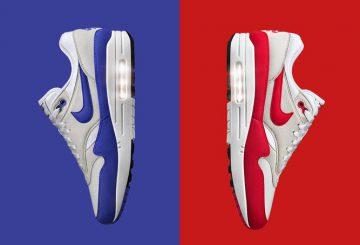"""国内3月4日発売★Nike Air Max 1 OG """"Anniversary"""" White/University Red 908375-100 ・ Nike Air Max 1 OG """"Anniversary"""" White/Game Royal 908375-101"""