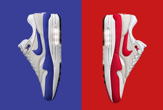 "国内3月4日発売★Nike Air Max 1 OG ""Anniversary"" White/University Red 908375-100 ・ Nike Air Max 1 OG ""Anniversary"" White/Game Royal 908375-101"