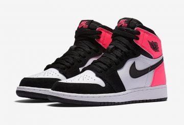 """2月11日発売★公式画像★NIKE Air Jordan 1 OG GS """"Valentine's Day"""" Black/Black-Hyper Pink-White 881426-009 【ナイキ エアジョーダン1 GS バレンタインデー】"""