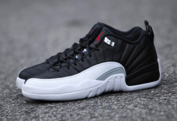 "MOVIE★ 2月25日発売★NIKE Air Jordan 12 ""Playoffs"" Black/Varsity Red-White 308317-004 【ナイキ エアジョーダン12 LOW】"