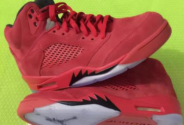 "7月1日発売★ NIKE Air Jordan 5  ""RED SUEDE"" University Red/Black-University Red 136027-602 【ナイキ エアジョーダン5 ""RED SUEDE""】"