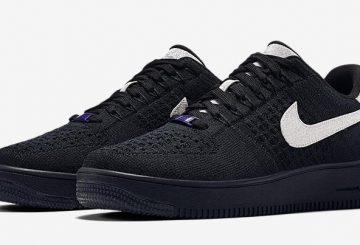 2月17日発売★ Nike Air Force 1 Ultra Flyknit Black/Metallic Silver 908670-001 【ナイキ エアフォース1 ウルトラフライニット】
