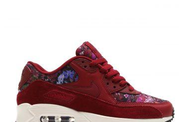 レディース★ Nike WMNS Air Max 90 SE Team Red/Team Red-Night Maroon-Sail 881105-600 【ナイキ ウィメンズ エア マックス 90 チームレッド/チームレッド/ナイトマルーン/セイル/ブラック 】