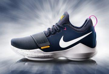 """検索リンク追記★ 国内3月8日発売★ Nike PG 1 """"Ferocity"""" Obsidian/University Gold-Hyper Violet-Wolf Grey 878627-417 【ナイキ PG1 】"""
