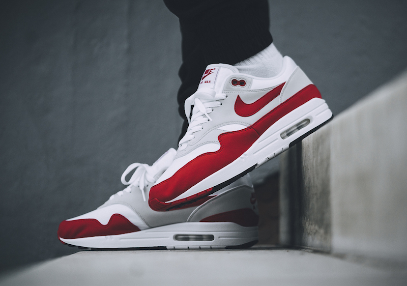 "separation shoes 1a3c0 676a4 検索リンク☆3月4日発売☆Nike Air Max 1 OG ""Anniversary"" WhiteUniversity Red  908375-100 WHITEGAME ROYAL-NTRL GREY-BLK 908375-101 ナイキ エアマックス1 "" ..."