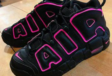 レディース★4月1日発売★ Nike Air More Uptempo GS Black/Black-Hyper Pink 415082-003 【ナイキ エア モアアップテンポ】