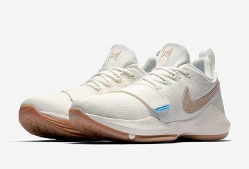 在庫あり★4月6日発売★ Nike PG 1 Ivory/Oatmeal-Gum Light Brown-Vivid Sky 878627-110 【ナイキ PG1 】