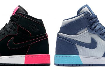 海外一部展開中★2COLORS★ NIKE Air Jordan 1 GS Black/Hyper Pink-White 332148-024  / Blue Moon/Pure Platinum-Polarized Blue 332148-407 ( ナイキ エアジョーダン 1)