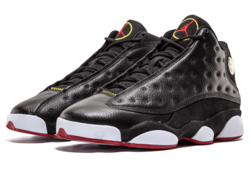 "MOVIE★6月20日発売★NIKE Air Jordan 13 ""Playoffs"" Black/True Red-White 414571-004 【ナイキ エアジョーダン 13】"