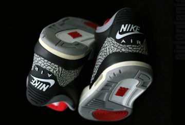 """来春2月発売予定★NIKE Air Jordan 3 OG """"Black Cement"""" Black/Cement Grey/White-Fire Red 854262-001 【ナイキ エアジョーダン 3】"""