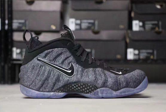 """6月5日発売★ Nike Air Foamposite Pro """"Tech Fleece"""" Dark Grey Heather/Black-Black  【ナイキ エアフォームポジット """"テックフリース""""】"""