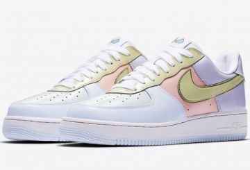 "4月17日発売★Nike Air Force 1 Low ""Easter"" Titanium/Lime Ice-Storm Pink 845053-500 (ナイキ エアフォース1 LOW ""イースター"")"