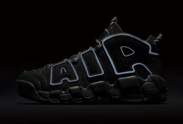 """再販★MOVIE★4月15日発売★ Nike Air More Uptempo """"Triple Black""""  Black/Black-Black 414962-004【ナイキ エア モア アップテンポ】"""