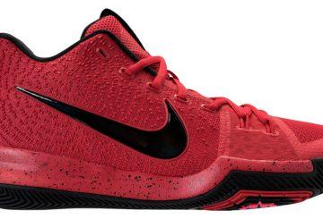 """4月15日発売★ Nike Kyrie 3 """"Three-Point Contest"""" University Red/Black-Team Red 852395-600【ナイキ カイリー3】"""
