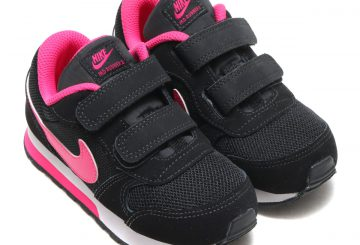キッズ★ NIKE MD RUNNER 2 TDV BLACK/VIVID PINK-WHITE 807328-006 (ナイキ MD ランナー 2 TDV)
