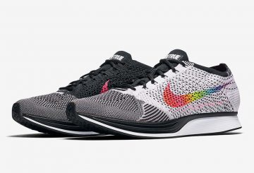 "6月1日発売★Nike Flyknit Racer ""Be True"" Multi-Color/Black-White  902366-100  ( ナイキ フライニット レーサー ""BE TRUE"")"