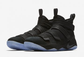 "5月31日発売★ Nike LeBron Soldier 11 ""Strive for Greatness""  Black/Black-Ice Blue  897646-001"