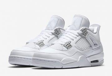 """検索リンク追記★5月13日発売★NIKE Air Jordan 4 """"Pure Money"""" White/Metallic Silver-Pure Platinum 308497-100 【ナイキ エアジョーダン 4】"""