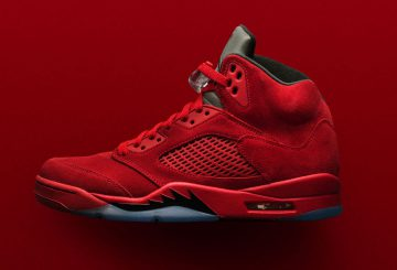 "検索リンク追記★MOVIE集★NIKE Air Jordan 5 ""Flight Suit"" University Red/Black-University Red 136027-602 (ナイキ エアジョーダン 5)"