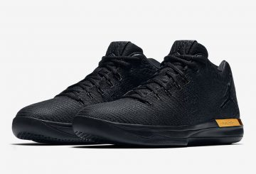 7月28日発売★ NIKE Air Jordan XXX1 Low  Black/Anthracite-Metallic Gold 897564-023 (ナイキ エアジョーダン 31 LOW)