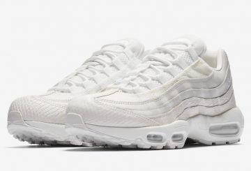 "6月29日発売★Nike Air Max 95 ""White Snakeskin""  Summit White/Sail  538416-100  (ナイキ エアマックス 95)"