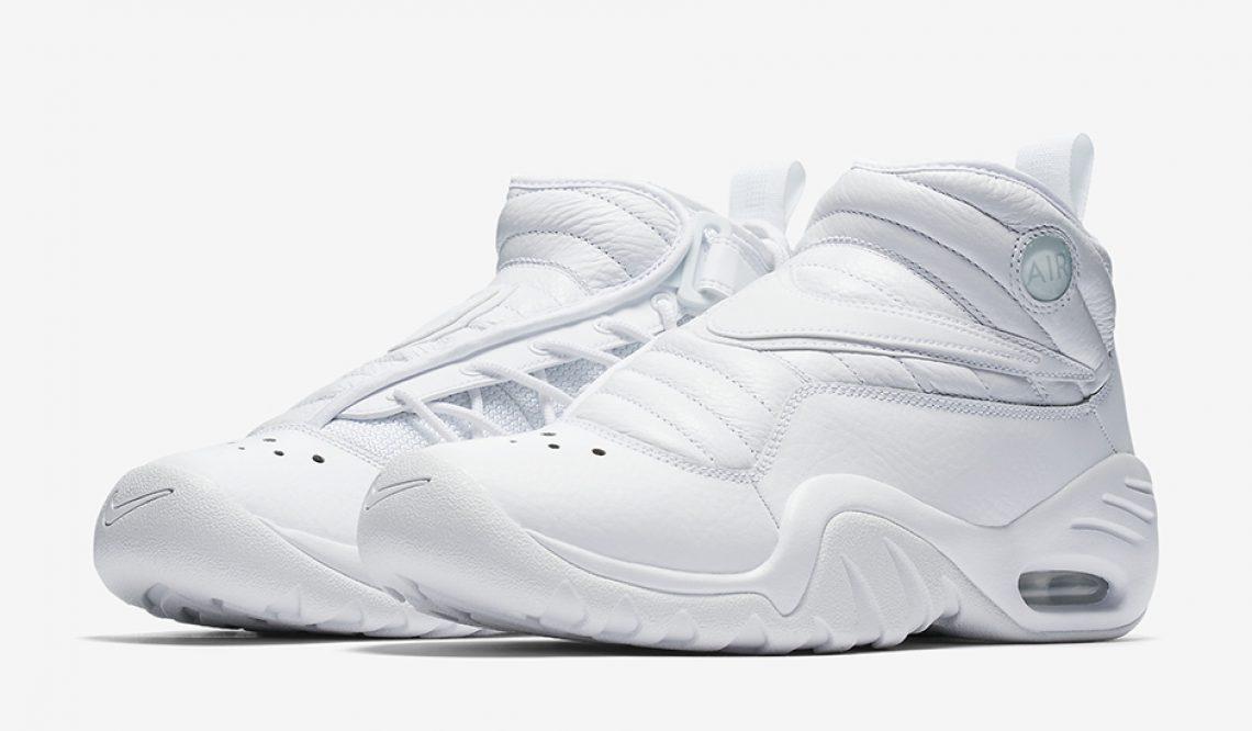 """Nike Air Shake NDestrukt """"Triple White"""" White/White-White 880869-101 (ナイキ エアシェイク インデストラクト))"""