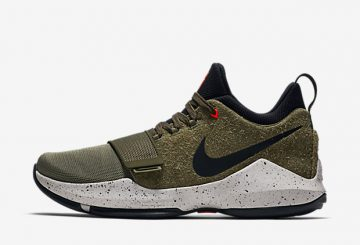 "MOVIE★発売開始★Nike PG 1 ""Elements"" Olive/Black 911084-200"