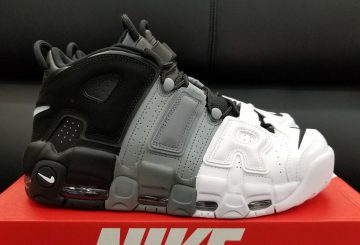 "8月12日発売★Nike Air More Uptempo ""Tri-Color"" Black/Black/Cool-Grey-White  921948-002"