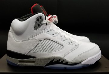 "MOVIE★8月5日発売★ NIKE  Air Jordan 5 ""Cement""  White/Fire Red-Tech Grey-Black 136027-104"