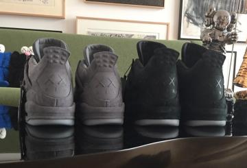 画像追記★リーク★ 2018年発売予定★ KAWS x NIKE Air Jordan 4 Black/Black 930155-001