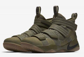 サマーシーズン発売★ Nike LeBron Soldier 11 SFG Medium Olive/Black-Black  897646-200 (ナイキ レブロン ソルジャー 11)