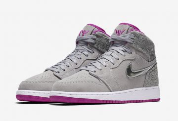 "9月30日発売★ NIKE Air Jordan 1 GS ""Maya Moore""  Wolf Grey/Metallic Silver-Fuchsia Flash 332148-012 (ナイキ エアジョーダン 1 GS )"