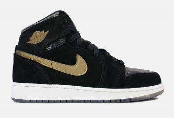 レディース★NIKE Air Jordan 1 Retro High Premium GS  Black/Dark Brown-Camo  832596-030