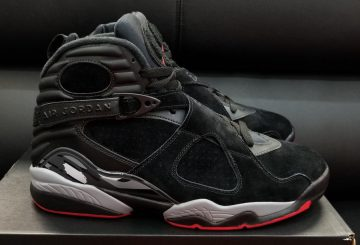 "9月16日発売★ NIKE Air Jordan 8 ""Cement""  Black/Gym Red-Black-Wolf Grey  305381-022 (ナイキ エアジョーダン 8)"