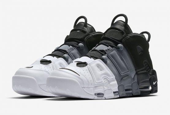 """メンズ&レディース★検索リンク追記★MOVIE★国内8月12日発売★ Nike Air More Uptempo """"Tri-Color"""" Black/Black/Cool-Grey-White  921948-002 (ナイキ エア モア アップテンポ )"""