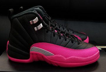 画像追記★10月14日発売★ nike Air Jordan 12 GS Black/Deadly Pink-Metallic Silver 510815-026 (ナイキ エアジョーダン 12 GS)