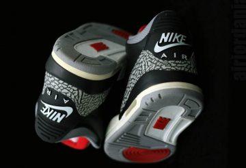 """動画★2月17日発売★ NIKE Air Jordan 3 OG """"Black Cement"""" Black/Cement Grey/White-Fire Red  854262-001 (ナイキ エアジョーダン 3 OG """"ブラック セメント"""")"""