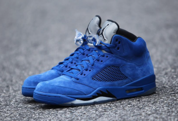 "検索リンク★動画★NIKE Air Jordan 5 ""Blue Suede"" Game Royal/Game Royal-Black 136027-401 (ナイキ エアジョーダン 5 )"