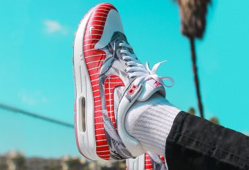 "9月15日発売★  WASAFU × NIKE AIR MAX 1 ""LHM"" WHITE/UNIVERSITY RED AH7740-100 (WASAFU × ナイキ エアマックス1 ""LHM"")"