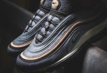 近日発売★ Nike Air Max 97 Premium  Cool Grey/Deep Pewter-Black-Sail (ナイキ エアマックス 97)