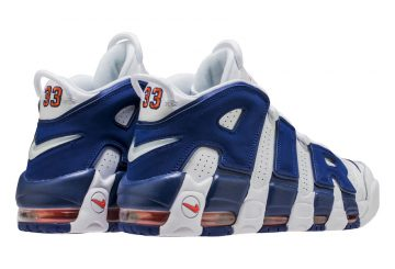 """検索リンク★9月23日発売★ Nike Air More Uptempo """"Knicks"""" aka """"The Dunk"""" Color: White/Deep Royal Blue-Team Orange 921948-101 (ナイキ エア モア アップテンポ)"""