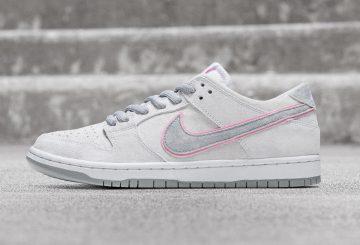 """9月7日発売★ Nike SB Dunk Low """"Ishod Wair"""" White/Perfect Pink-Flat Silver : 895969-160 (ナイキ SB ダンク ロー """"アイショッド ウェア"""")"""