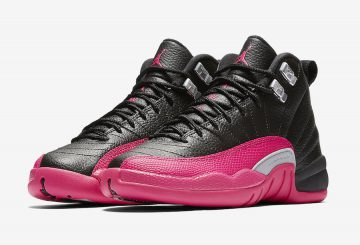 検索リンク追記★NEW IMAGES★NIKE  Air Jordan 12 GS  Black/Deadly Pink-Metallic Silver 510815-026