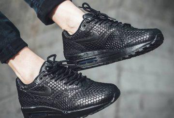 海外展開中★ Nike WMNS Air Max 1 Premium Black/Black-Anthracite : 454746-014 (ナイキ ウィメンズ エアマックス 1 プレミアム )