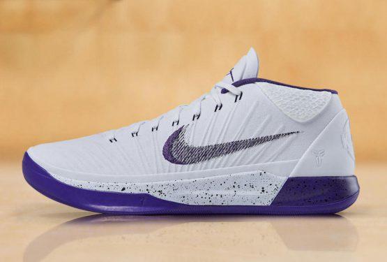 "動画★10月28日発売★ Nike Kobe AD Mid ""Sunday's Best"" White/Court Purple-Black 922482-100"